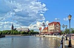 Aldea de los pescados en Kaliningrad Fotografía de archivo