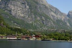 Aldea de Lysefjord Imágenes de archivo libres de regalías