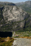 Aldea de Lysefjord Imagen de archivo libre de regalías