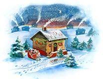 Aldea de Navidad libre illustration