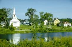 Aldea de Nueva Inglaterra Fotos de archivo