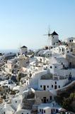 Aldea de Oia, isla de Santorini Fotos de archivo libres de regalías
