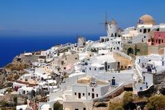 Aldea de Oia, isla de Santorini, Grecia fotografía de archivo libre de regalías