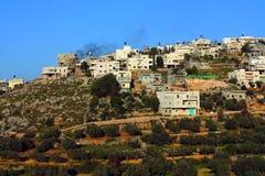 Aldea de Palestina en Cisjordania Fotografía de archivo