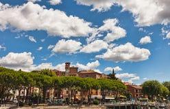 Aldea de Passignano, Italia Fotos de archivo