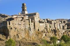 Aldea de Pitigliano Imagen de archivo