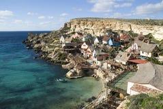 Aldea de Popeye en Malta Imagenes de archivo