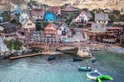 Aldea de Popeye en Malta Fotografía de archivo libre de regalías