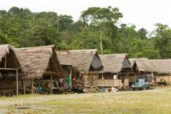 Aldea de Puni Bocana Fotografía de archivo libre de regalías