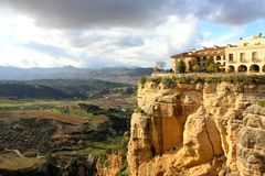 Aldea de Ronda en Andaluc3ia, España Imagen de archivo