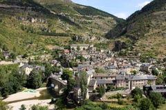 Aldea de Sainte-Enimie Fotos de archivo