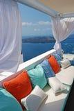 Aldea de Santorini Imagenes de archivo