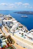 Aldea de Santorini Foto de archivo libre de regalías