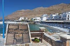 Aldea de Sfakia en la isla de Crete, Grecia foto de archivo libre de regalías