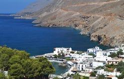 Aldea de Sfakia en la isla de Crete, Grecia fotos de archivo libres de regalías