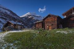 Aldea de Suiza Imagen de archivo libre de regalías