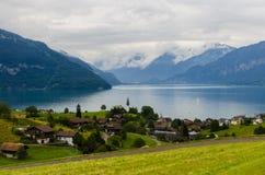 Aldea de Suiza Fotos de archivo libres de regalías