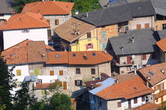Aldea de Toscana foto de archivo