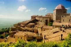 Aldea de Toscana Fotografía de archivo libre de regalías