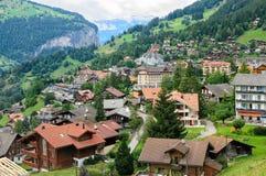 Aldea de Wengen, Suiza fotografía de archivo libre de regalías