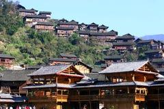 Aldea de Xijiang Miao en China más grande Fotos de archivo libres de regalías