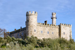Aldea del Cano Castle Caceres province of Caceres, Spain Stock Image