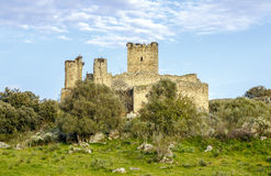 Aldea del Cano Castle Mayoralgo province of Caceres, Spain Stock Images