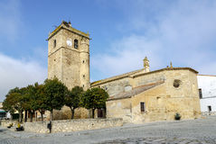 Aldea del Cano Church of St. Martin of Tours, Caceres, Spain Stock Image