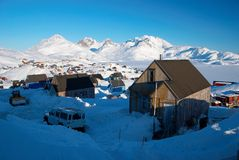 Aldea del Inuit Imágenes de archivo libres de regalías