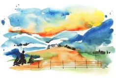 Aldea del invierno libre illustration