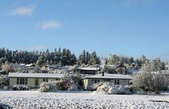 Aldea del invierno Imagen de archivo libre de regalías