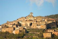 Aldea del italiano de las Edades Medias Imagen de archivo libre de regalías