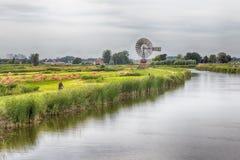Aldea del molino de viento en Holanda Fotografía de archivo