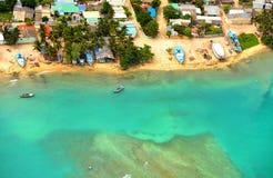 Aldea del pescador de Maldives fotos de archivo