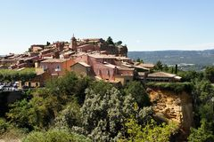 Aldea el Rosellón, Provence, Francia. Fotos de archivo libres de regalías