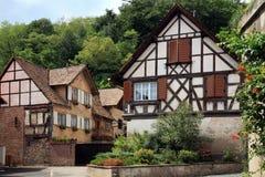 Aldea en Alsacia Imagenes de archivo