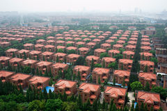 Aldea en China Foto de archivo libre de regalías