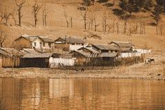 Aldea en Corea del Norte  fotos de archivo