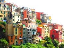 Aldea en costa italiana Fotografía de archivo