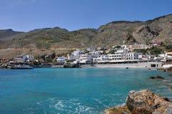 Aldea en crete, Grecia fotografía de archivo