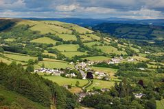 Aldea en el valle Galés Fotos de archivo libres de regalías