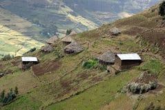 Aldea en Etiopía Imagenes de archivo