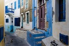 Aldea en Grecia Fotos de archivo