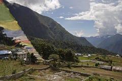 Aldea en Himalaya Foto de archivo