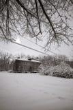 Aldea en invierno Imagen de archivo libre de regalías