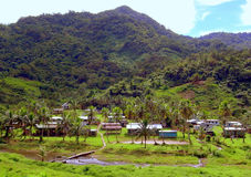 Aldea en la isla de Viti Levu Foto de archivo