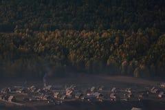 Aldea en la montaña Fotografía de archivo libre de regalías