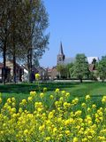 Aldea en Limburgo, Bélgica Fotografía de archivo libre de regalías