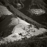 Aldea en los Cárpatos Fotos de archivo libres de regalías