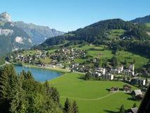 Aldea en Lucerna Suiza foto de archivo